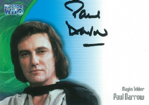 Doctor Who  PAUL DARROW as Maylin Tekker  AUTOGRAPH CARD AU08, Strictly Ink  -  10635